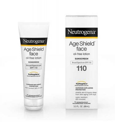 Protector solar Neutrogena para la cara 110+