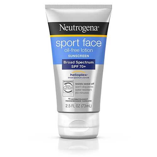 Protector solar Neutrogena sport face